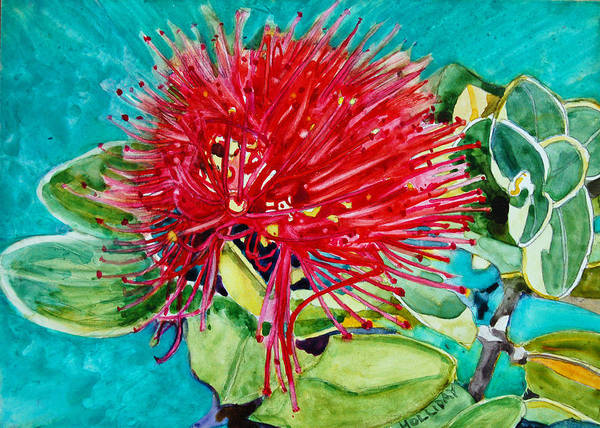 Painting - Lehua Blossom by Terry Holliday