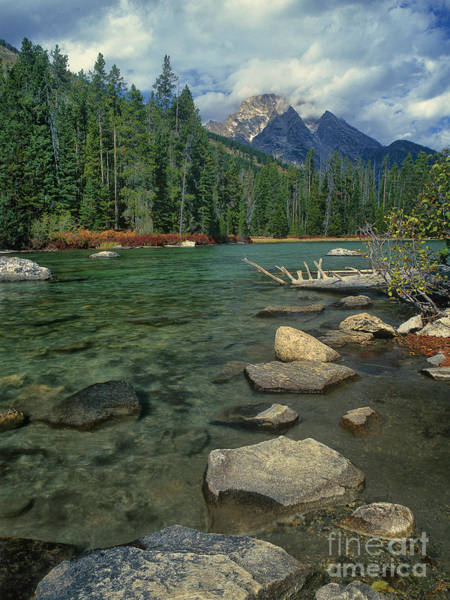 Photograph - Leigh Lake Teton Range Grand Tetons National Park Wyoming by Dave Welling