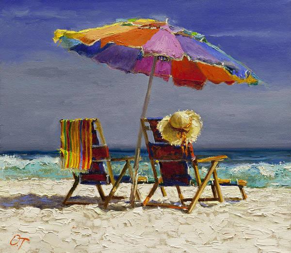 Beautiful People Painting - Leisure Time by Oleg Trofimoff