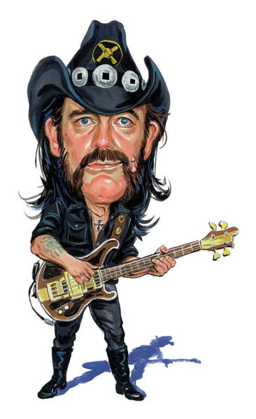 Laughter Wall Art - Painting - Lemmy Kilmister by Art