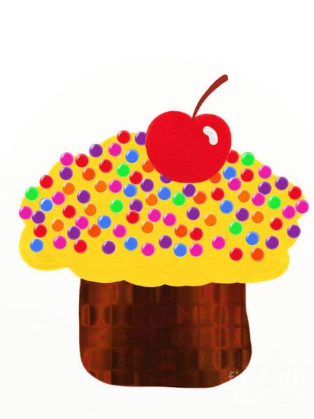 Digital Art - Lemon Cupcake by Andee Design