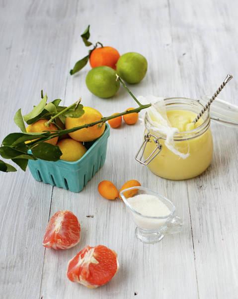 Lemon Photograph - Lemon Curd With Citrus by Julia Khusainova