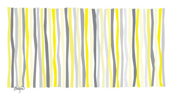 Vertical Line Digital Art - Lemon Delight On A Gray Day by Patricia Lintner