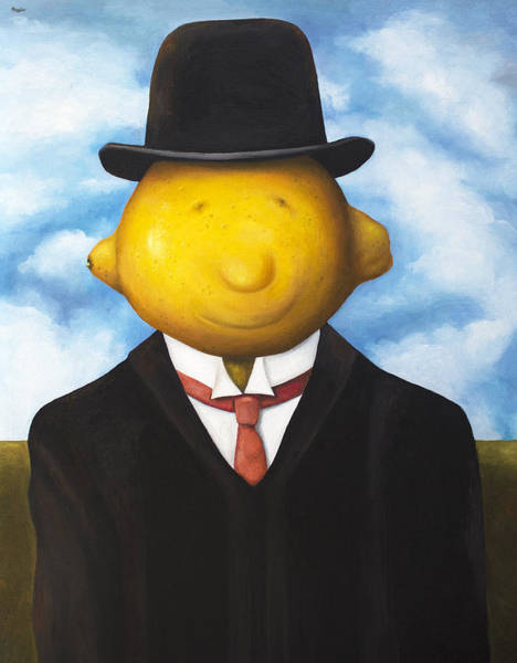 Dali Painting - Lemon Head by Leah Saulnier The Painting Maniac