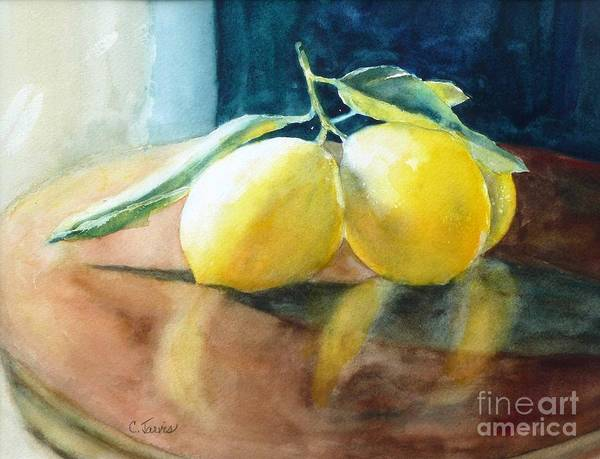 Lemon Reflections Art Print