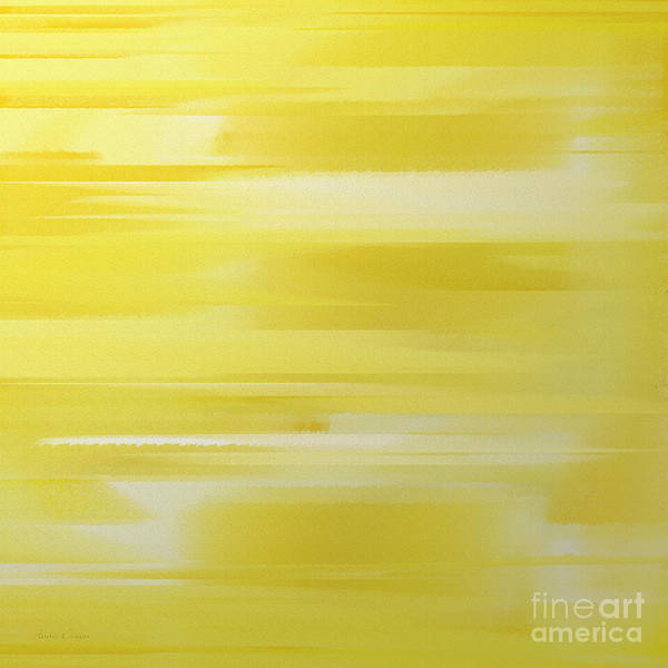 Digital Art - Lemon Slices Abstract Square by Andee Design