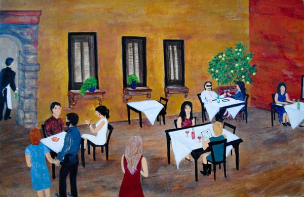 Dining Al Fresco Painting - Lemon Tree by Dixie Adams