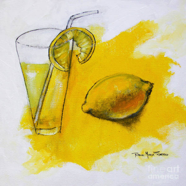 Painting - Lemon Water by Robin Maria Pedrero