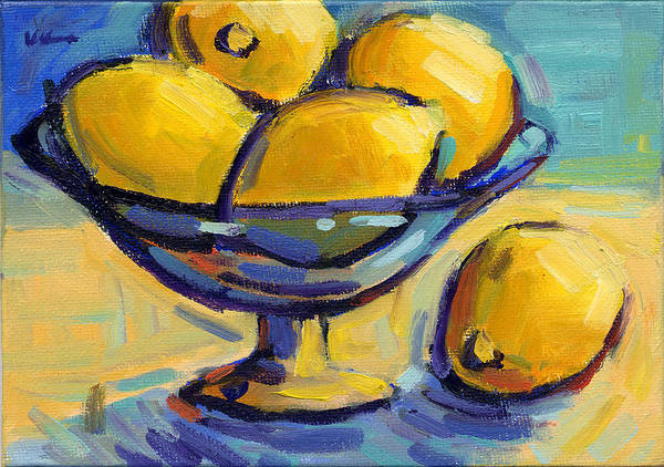 Painting - Lemons 2 by Konnie Kim