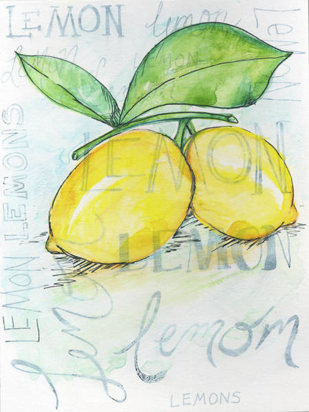 Kitchen Painting - Lemons by Anne Seay