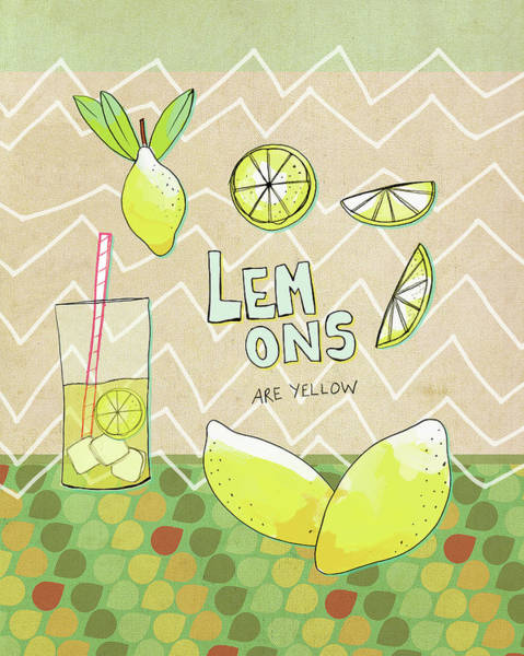 Kitchen Painting - Lemons Are Yellow by Lisa Barbero