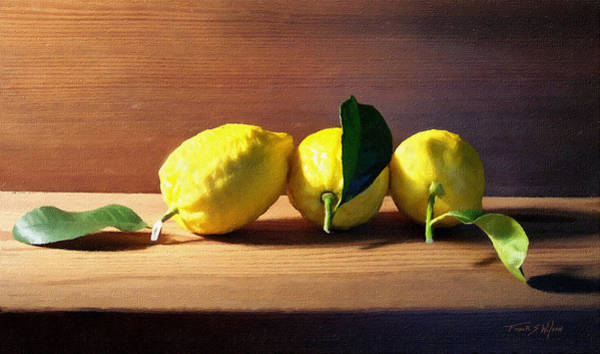 Wall Art - Photograph - Lemons by Frank Wilson