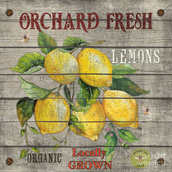 Orchard Painting - Lemons-jp2679 by Jean Plout