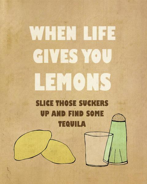 Kitchen Painting - Lemons by Lisa Barbero