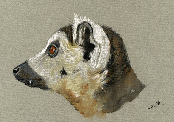 Ring Painting - Lemur Head Study by Juan  Bosco