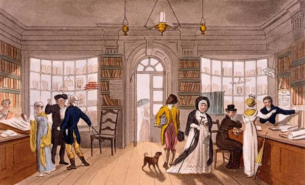 Library Drawing - Lending Library, 1813 by James Green