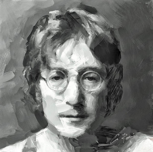 Painting - Lennon by Charlie Roman