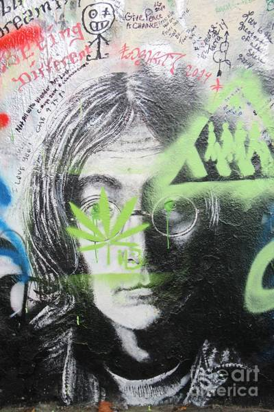Wall Art - Photograph - Lennon Wall by Dennis Curry
