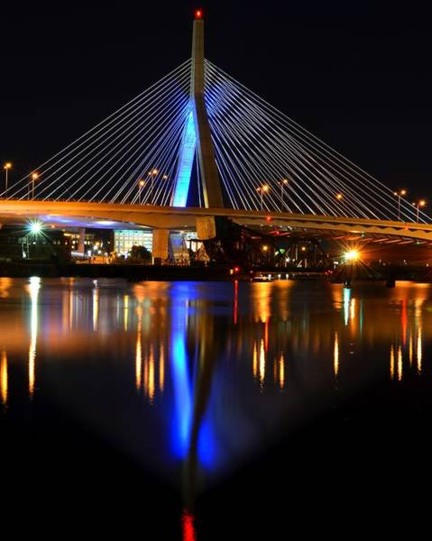 Photograph - Lenny Zakim Bridge From North Point Park by Toby McGuire