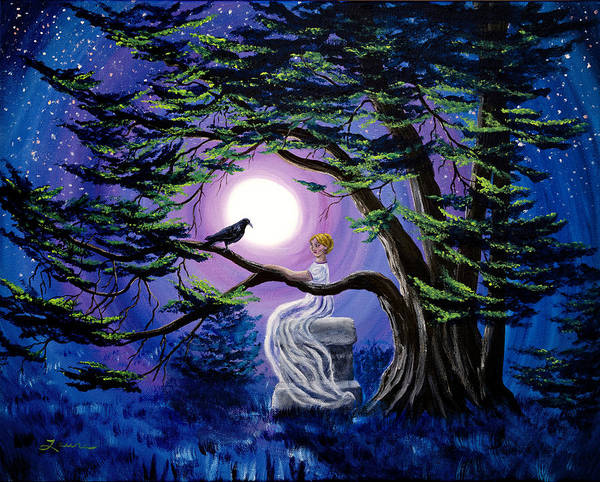 Wall Art - Painting - Lenore By A Cypress Tree by Laura Iverson