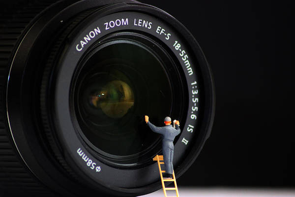 Lenses Photograph - Lens Cleaner by Martin Newman