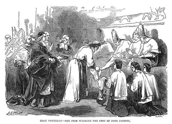 Holy Thursday Painting - Lent Holy Thursday, 1844 by Granger