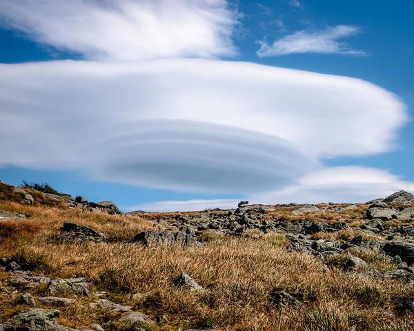 Photograph - Lenticular Cloud Over Mount Washington by Jim DeLillo