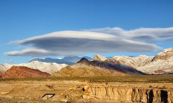Photograph - Lenticular Cloud Red Rock Canyon by Michael Rogers