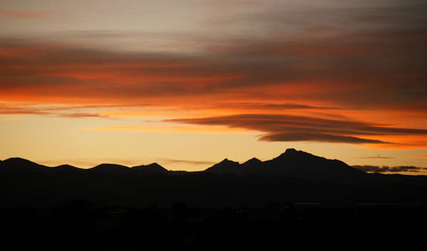 Photograph - Lenticular Clouds Over Longs Peak 2 by Marilyn Hunt