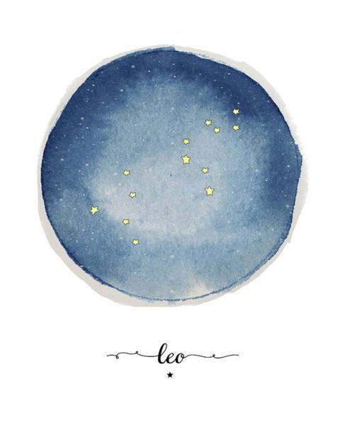 Zodiac Wall Art - Painting - Leo Circle by Amy Cummings