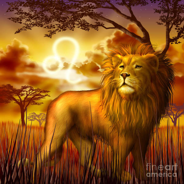 Big Cat Digital Art - Leo by MGL Meiklejohn Graphics Licensing