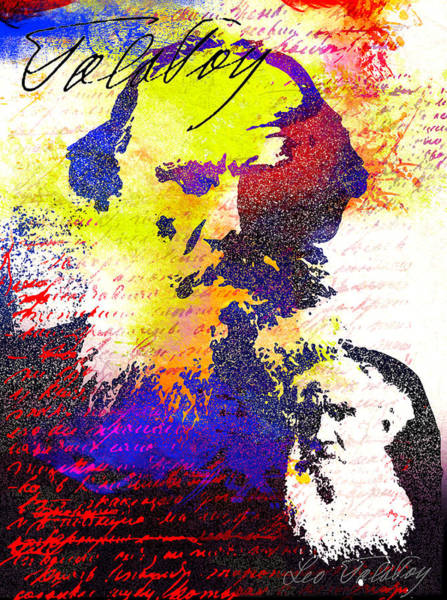 Famous People Digital Art - Leo Tolstoi by Nato  Gomes