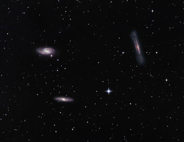 Triplets Photograph - Leo Triplet Galaxies by Robert Gendler/science Photo Library