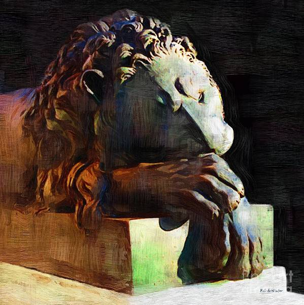 Painting - Leo Weeps by RC DeWinter