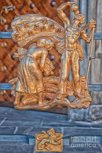 Praha Wall Art - Photograph - Leo Zodiac Sign - St Vitus Cathedral - Prague by Ian Monk
