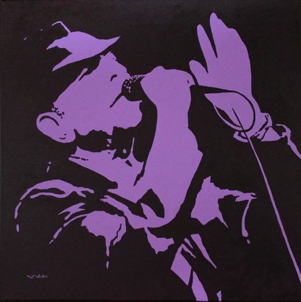 Wall Art - Painting - Leonard Cohen The Tower Of Song by John  Nolan