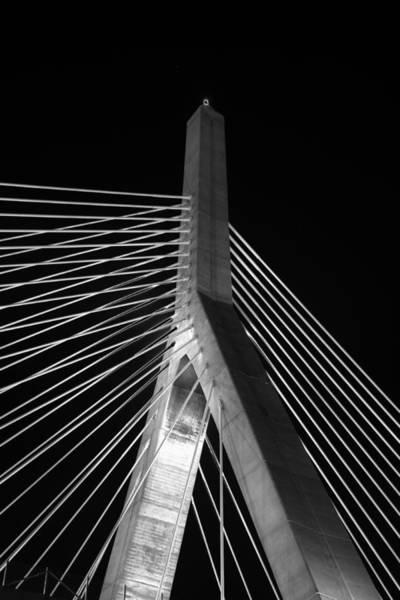 Photograph - Leonard P Zakim Bridge 2 - Bw by Joann Vitali