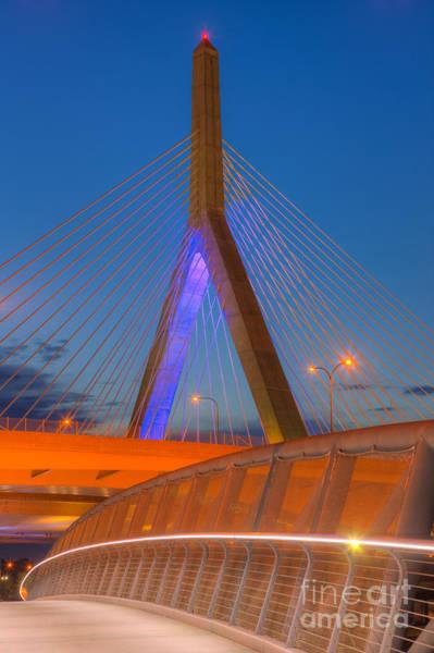 Photograph - Leonard P. Zakim Bunker Hill Bridge V by Clarence Holmes