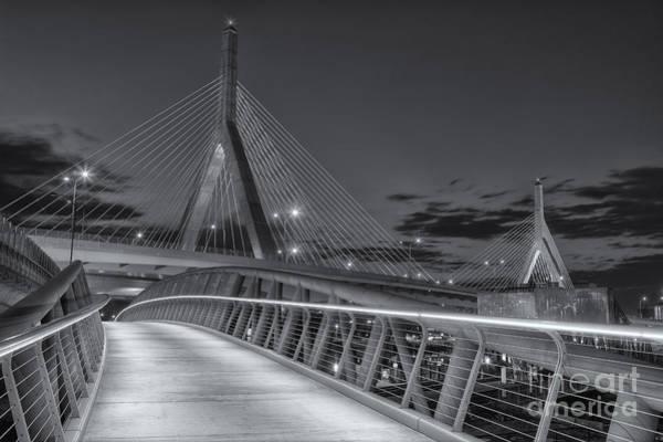 Photograph - Leonard P. Zakim Bunker Hill Bridge Viii by Clarence Holmes