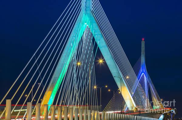 Photograph - Leonard P. Zakim Bunker Hill Memorial Bridge by Susan Candelario