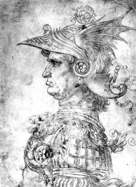 Wall Art - Drawing - Leonardo Da Vinci Warrior by Granger
