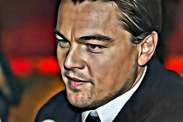 Painting - Leonardo Di Caprio Portrait by Florian Rodarte