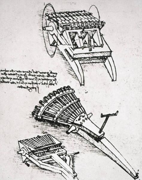Photograph - Leonardo: Gun by Granger