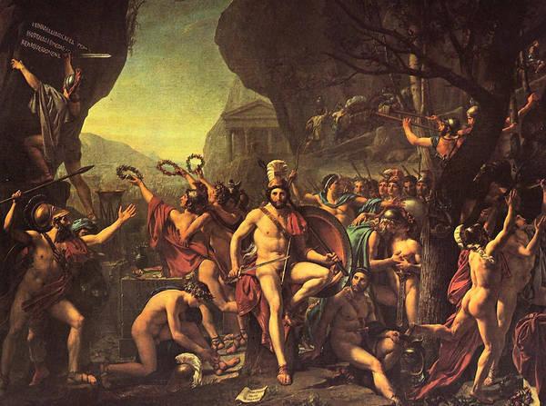 Painting - Leonidas At Thermopylai by Jacques Louis David