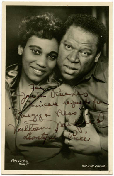 William And Mary Photograph - Leontyne Price American Operatic by Mary Evans Picture Library