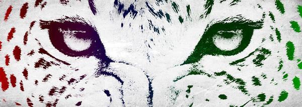Danger Digital Art - Leopard Eyes by Aged Pixel