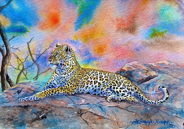 Painting - Leopard by Joseph Thiongo