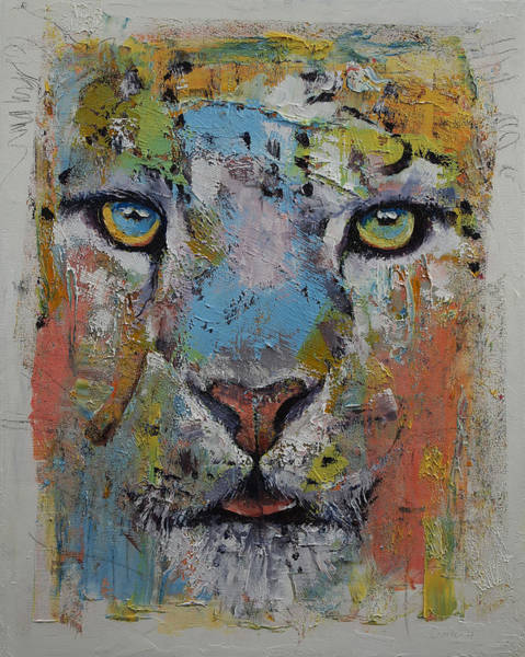 Wall Art - Painting - Leopard by Michael Creese
