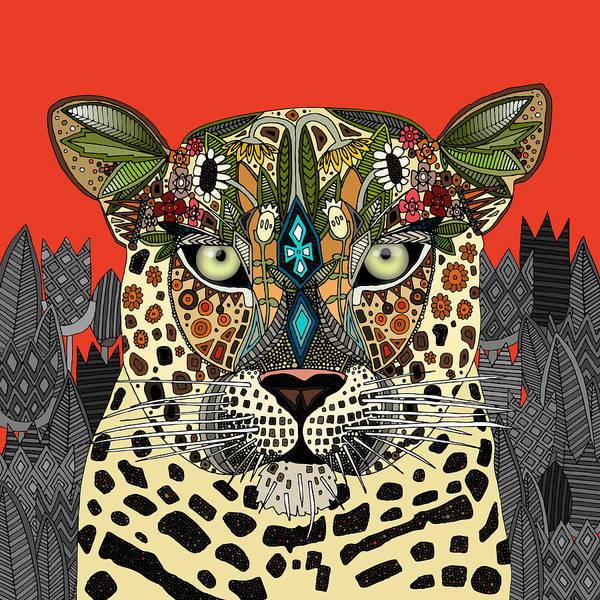 Wild Flowers Drawing - Leopard Queen Coral by MGL Meiklejohn Graphics Licensing
