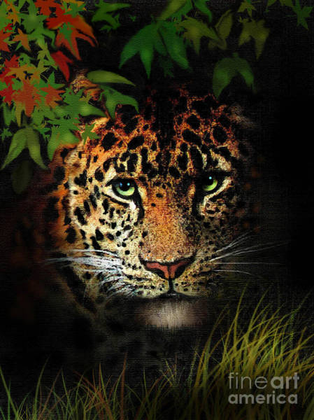 Wall Art - Painting - Leopard by Robert Foster
